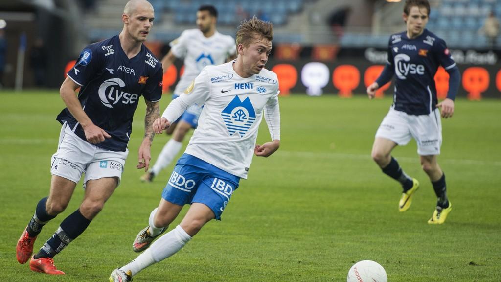 Moldes Thomas Kind Bendiksen er opprinnelig fra Harstad og spilte for Harstad fotball i ungdomsårene. Foto: Carina Johansen / NTB scanpix