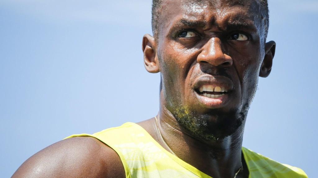 IKKE FORNØYD: 20,29 på 200-meteren var ikke det Usain Bolt hadde sett for seg under Diamond League-stevnet i New York 13. juni.