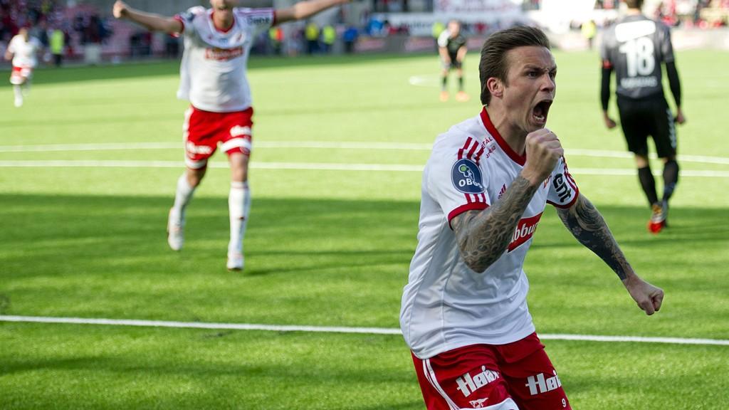 FFKs Steffen Nystrøm fra en tidligere kamp mot Brann. FOTO: NTB scanpix