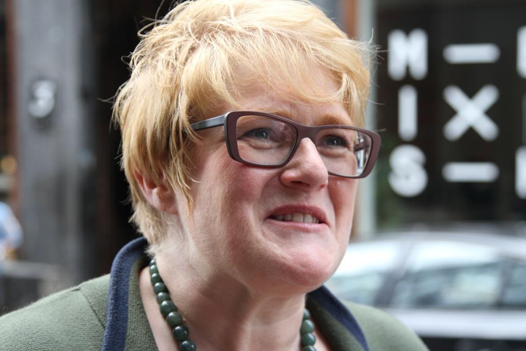 SOMMER- OG REGJERINGSKLAR: Venstre-leder Trine Skei Grande møtte tirsdag pressen for å oppsummere det siste året.