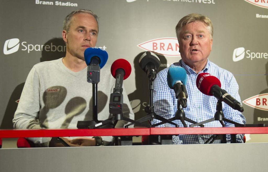 SPORTSSJEF: Rune Soltvedt (t.v.) er ansatt som sportssjef i Brann.