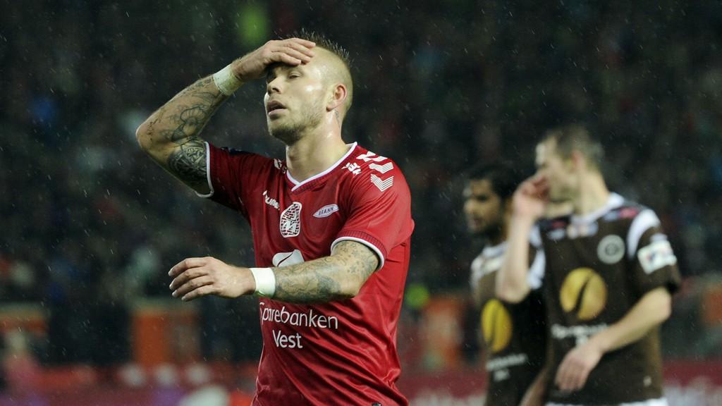 Marcus Pedersen er én av flere Brann-spillere som mister kveldens cupkamp mot Sarpsborg grunnet skader.