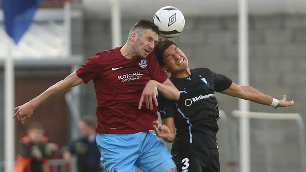 Drogheda spilte kvalifiseringen i Europa League mot Malmö i 2013, men ligger for tiden et godt stykke ned på den irske tabellen.