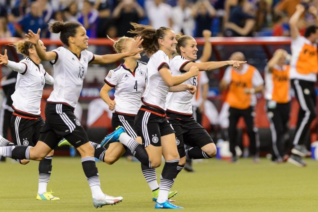 TIL SEMIFINALE: Tyskland tok seg videre til semifinalen i fotball-VM da de slo ut Frankrike på straffesparkkonkurranse.