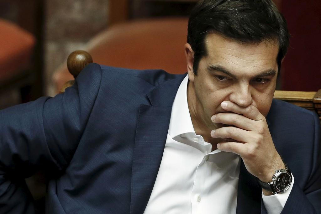 Hellas' statsminister Alexis Tsipras varsler folkeavstemning om det siste avtaleforslaget fra EU og IMF. Foto: Alkis Konstantinidis / Reuters / NTB scanpix
