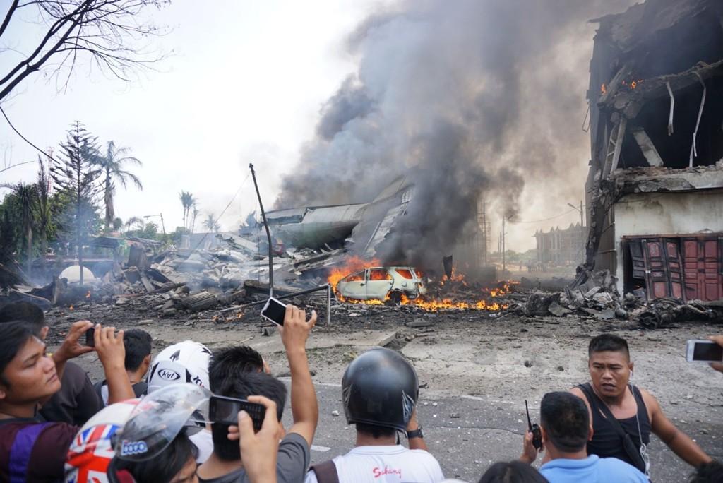 Flyet krasjet kort tid etter avgang.