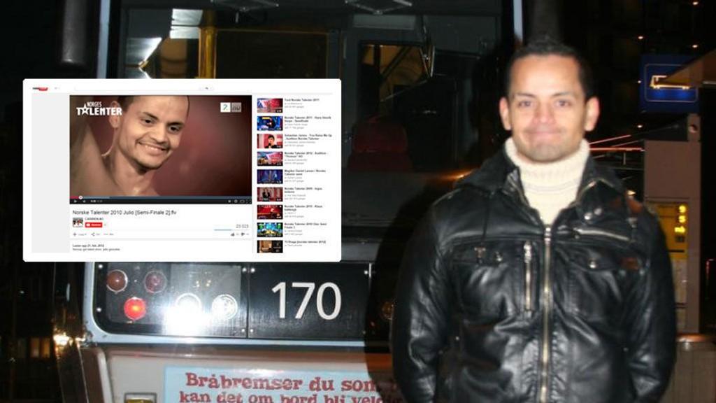 KJENDIS: Julio Kopseng er for noen kjent fra Norske talenter på TV 2 og fra et barneprogram i NRK. Han er nå tiltalt for vsju nye tilfeller av voldtekt. Foto: Arkivfoto/Faksimile (DittOslo/YouTube)
