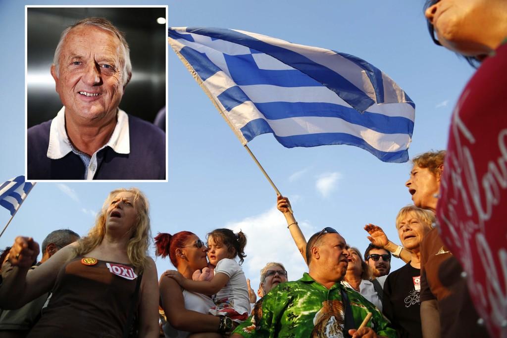 BI-professor Arne Jon Isachsen foreslår å bruke Oljefondet til å hjelpe Hellas ut av gjeldskrisen.