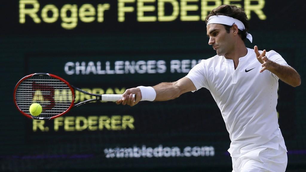 Roger Federer storspilte i fredagens semifinale mot Andy Murray.