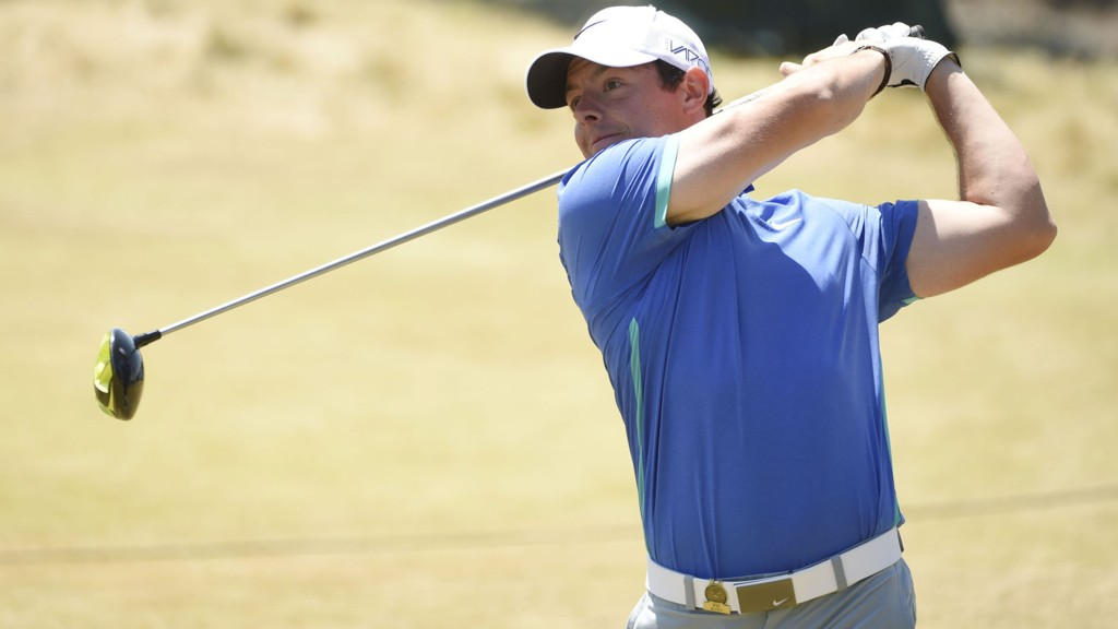 SKADET: Rory McIlroy går glipp av British Open på grunn av skade.