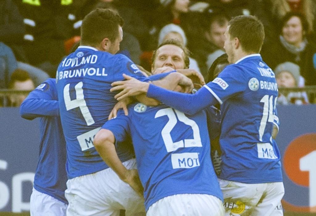 MESTERLIGATRIUMF?: Molde har sjansen til å avansere til tredje kvalifiseringsrunde av Mesterligaen. Her fra oppgjøret mot Rosenborg på Lerkendal forrige sesong.