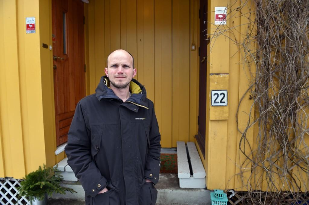 Sølvguttene-dirigenten Fredrik Otterstad flyttet inn i tomannsboligen på Røa i Oslo i 2012.