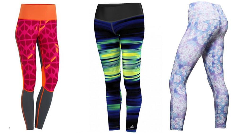 PÅ SALGSTOPPEN: Slike treningstights med farger og mønstre er blitt svært så populært de siste årene.