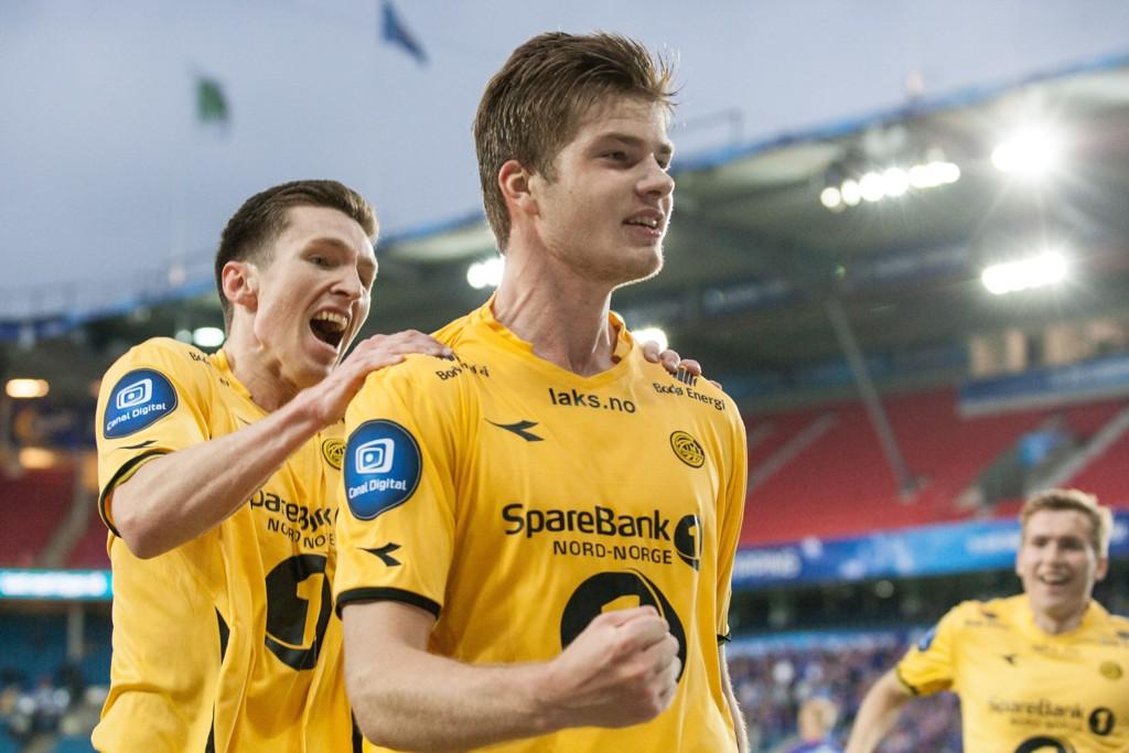 I SLAG: Alexander Sørloth (til høyre) og Glimt har eksplodert de siste kampene.