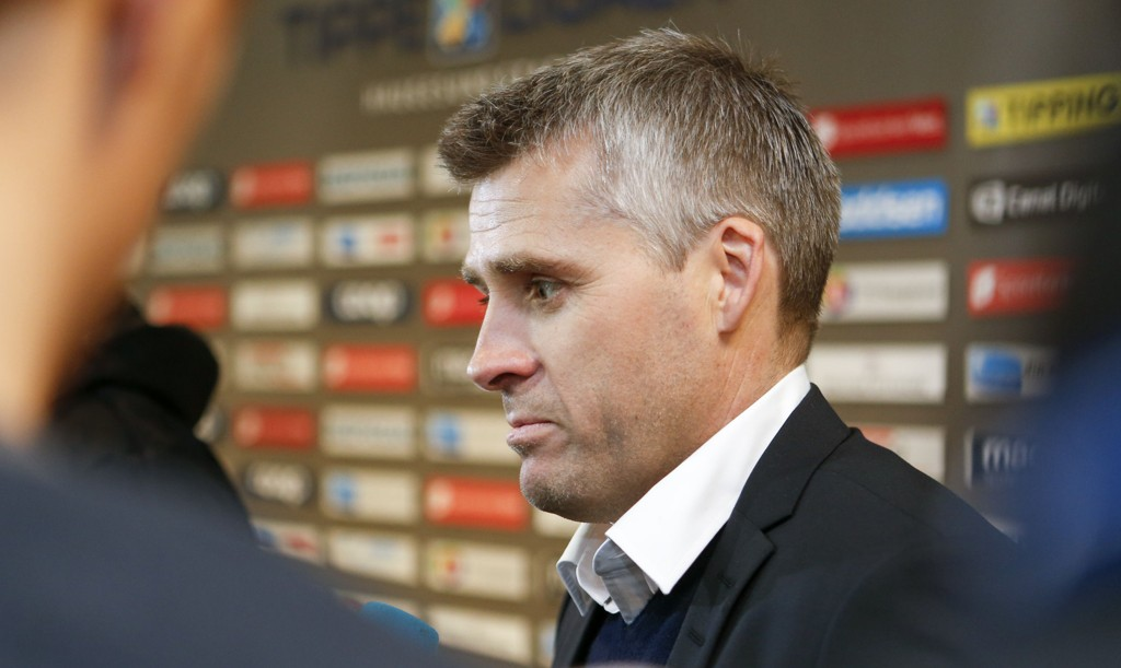 FATTET: Tor Ole Skullerud hadde dessverre ikke mye i smile over etter forrige seriekamp mot Haugesund.