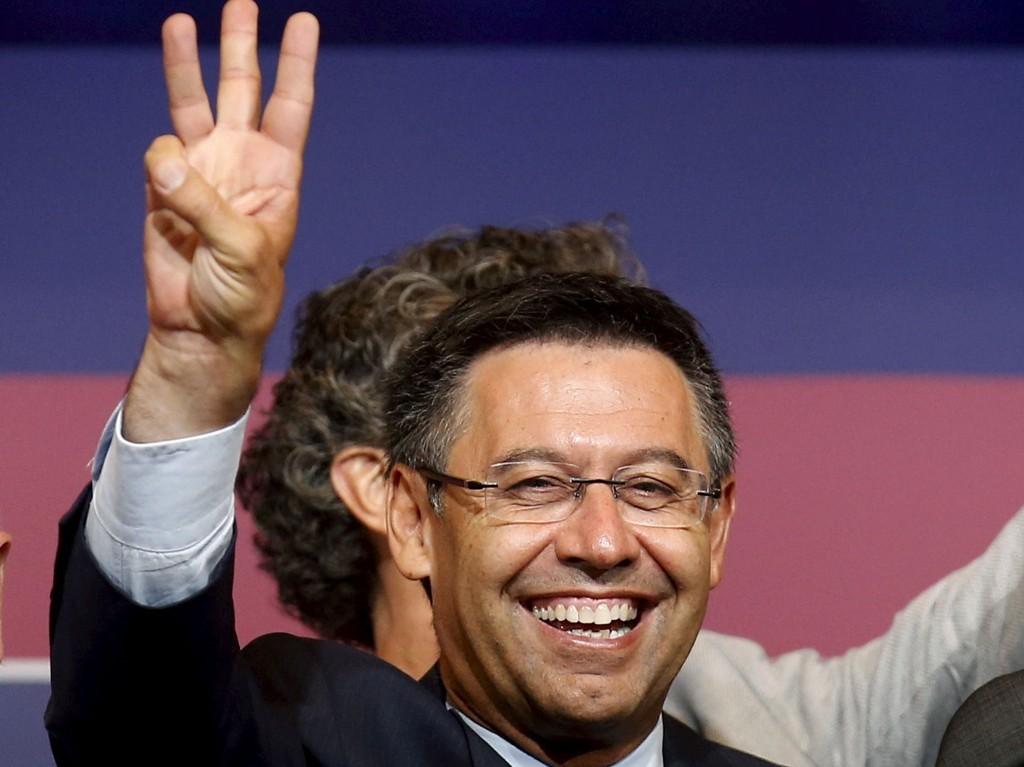 NY TILLIT: Barcelonas klubbpresident, Josep Maria Bartomeu, kunne puste lettet ut etter gejnvalget lørdag.