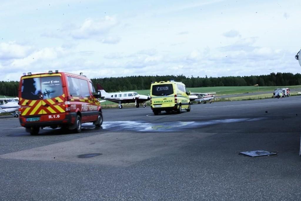 Alle nødetatene har rykket ut til flyplassen på Åstorp i ettermiddag.