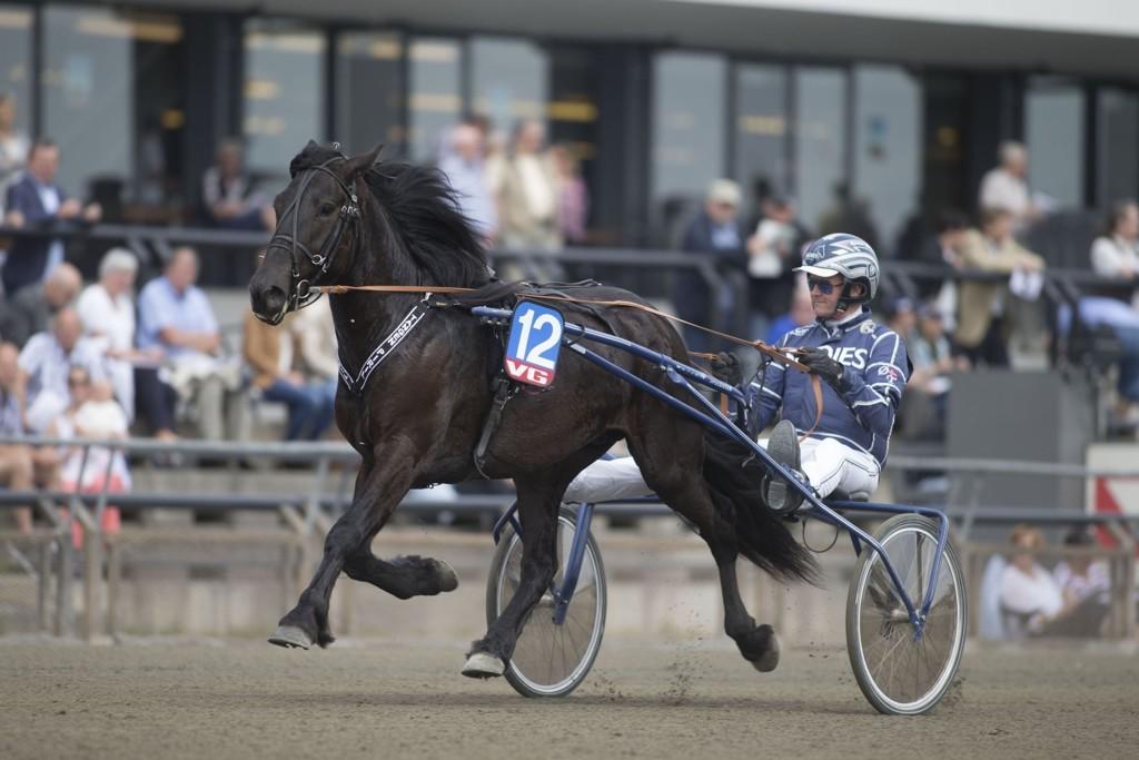 Supertalentet Tangen Piril, og Øystein Tjomsland blir hardt betrodd i dagens lunsjomgang. foto_Roger Svalsr¿d_hesteguiden.com