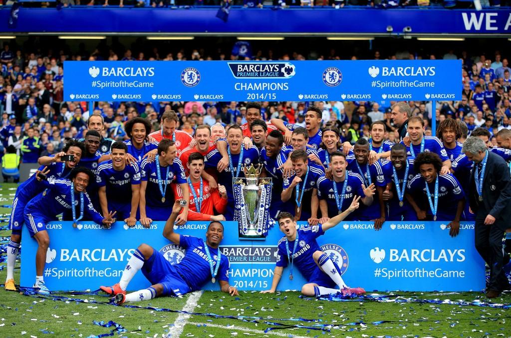 VANT I FJOR: Chelsea sikret Premier League-trofeet forrige sesong.