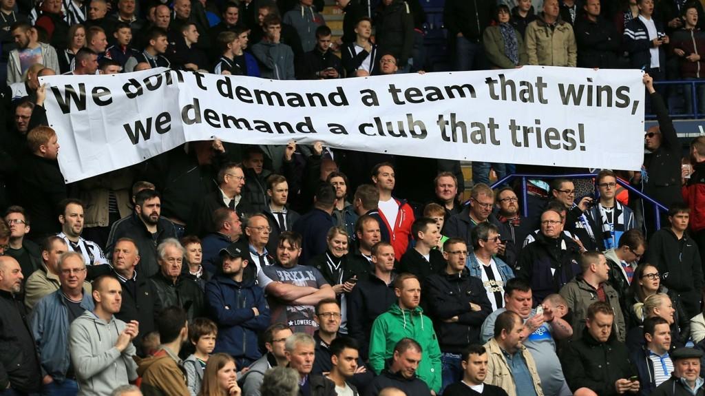 KLAR TALE: Newcastle-fansens misnøye nådde nye høyder forrige sesong.