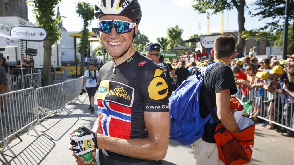 KAN SMILE: Det ble ikke etappeseier på MTN-Qhubekas Edvald Boasson Hagen, men han kan likevel være godt fornøyd med innsatsen til laget i Tour de France-debuten.