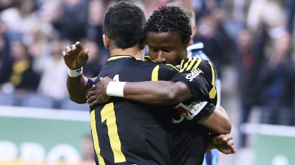 ILLUSTRASJON: Et bilde av to AIK-spillere fra 2013.
