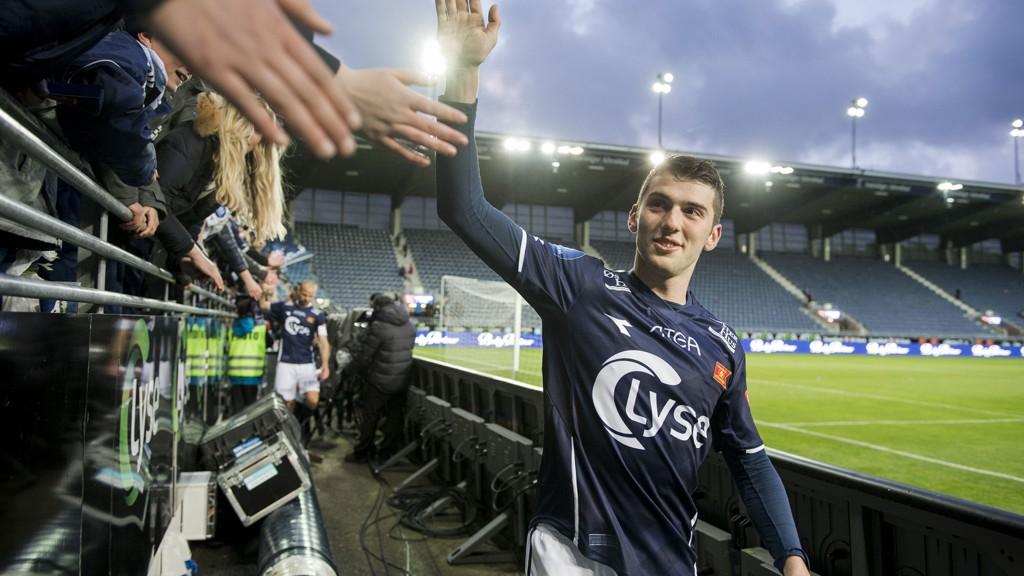 SKADET: Zymer Bytyqi vet ikke om han spiller mot Haugesund på fredag. Han sliter med en vond rygg.