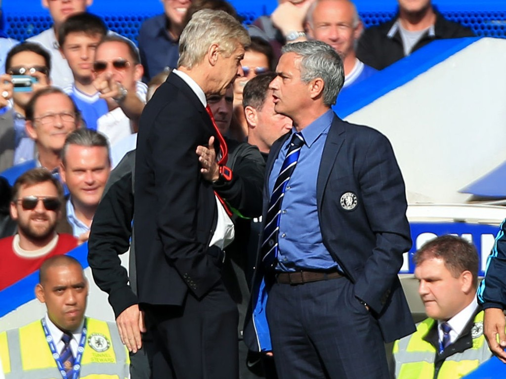 BEEF: Arsene Wenger (venstre) og Jose Mourinho har aldri vært bestevenner.