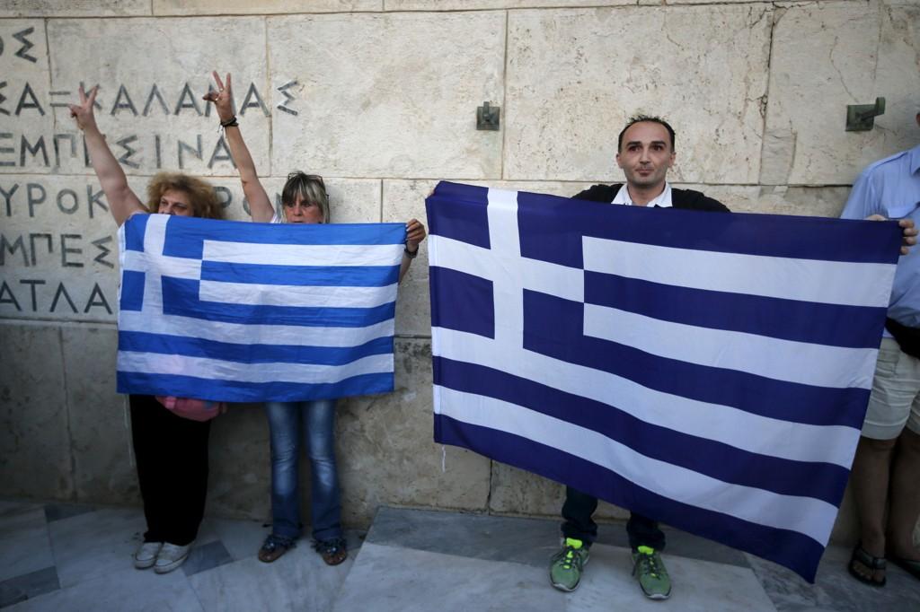 Børsen i Hellas åpner mandag. Kursfallene umiddelbart etter at handelen begynner igjen, antas å bli store
