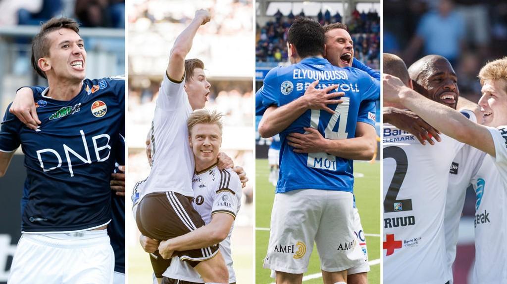 I EUROPA: Strømsgodset, Rosenborg, Molde og Odd kjemper fremdeles om gruppespill i Europa.