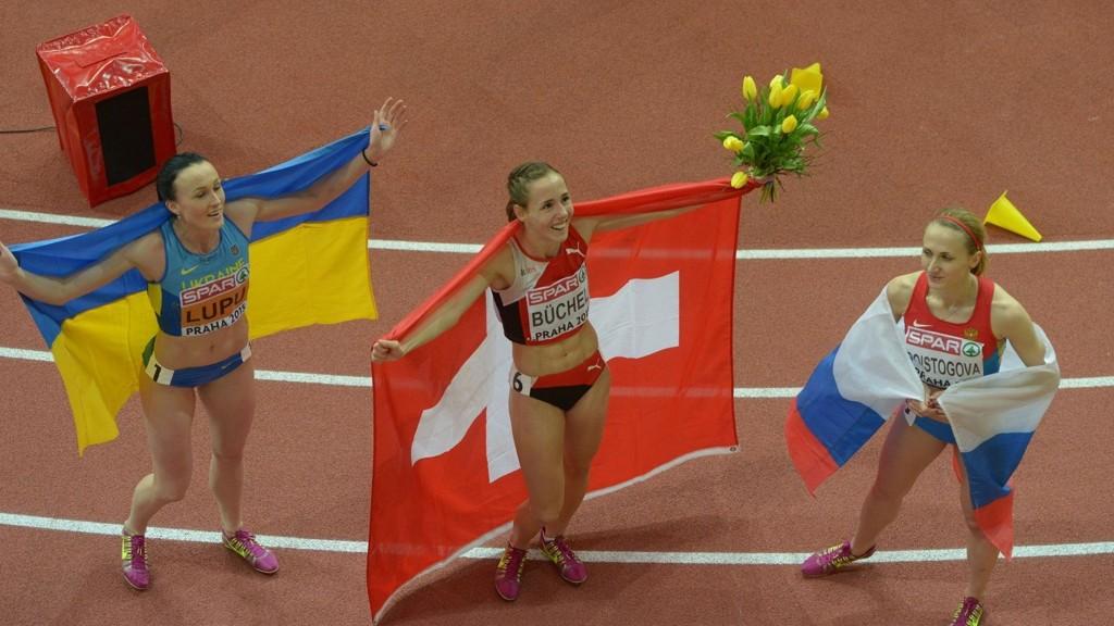 BESKYLDT FOR DOPING: Jekaterina Poistogova (t.h.) blir beskyldt for doping i etterkant av avsløringene i ARD og Sunday Times. Hun nekter for å ha gjort noe galt.