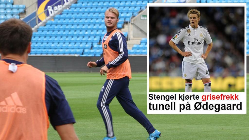 DRØMMEFORSIDE: Herman Stengel har planene klare for Martin Ødegaard.