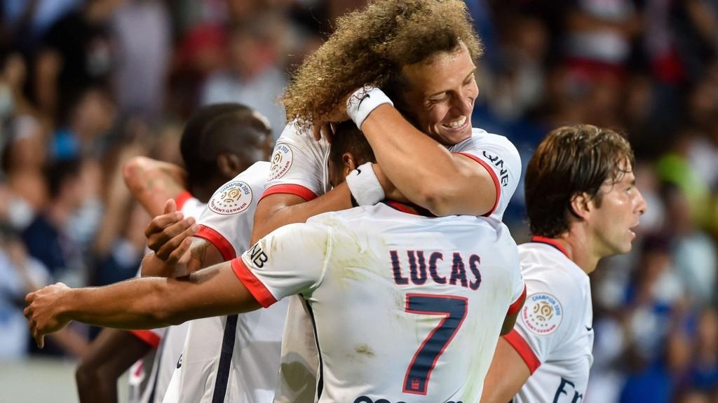 VANT: Paris Saint-Germains Lucas Moura scoret det avgjørende målet i serieåpningen mot Lille.