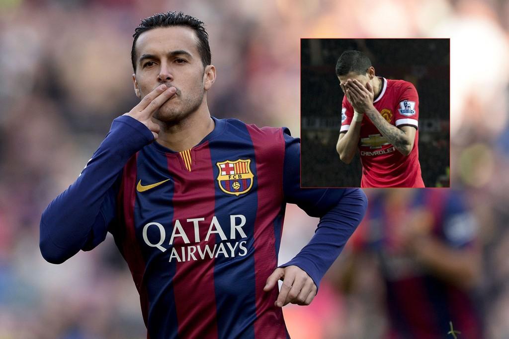 FORVENTNINGER: Petter Veland tror Pedro (hovedbildet) kan bli en større suksess i Manchester United enn Ángel Di María.