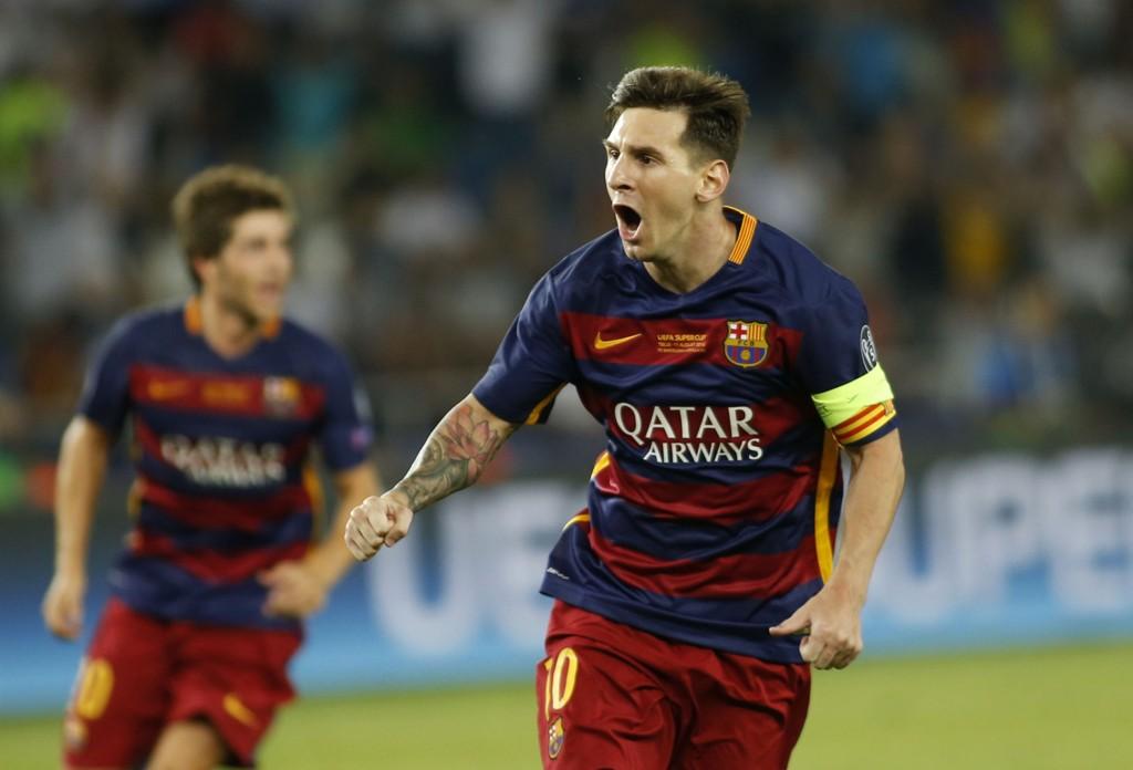 I FORM: Lionel Messi var overalt på banen mot Sevilla på onsdag.