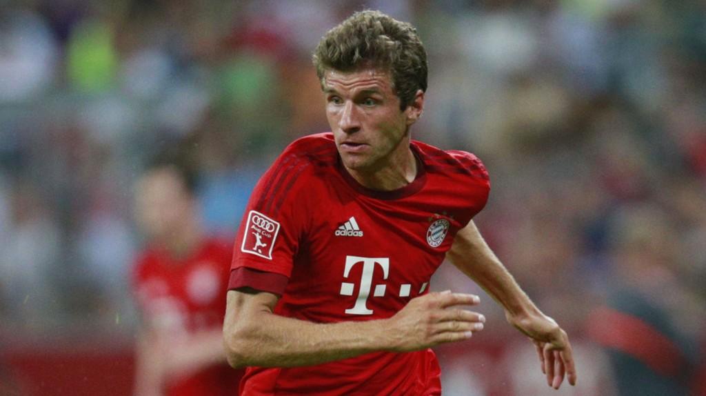 MÜLLER x 2: Thomas Müller scoret to ganger i den tyske seieåpningen. FOTO: NTB Scanpix