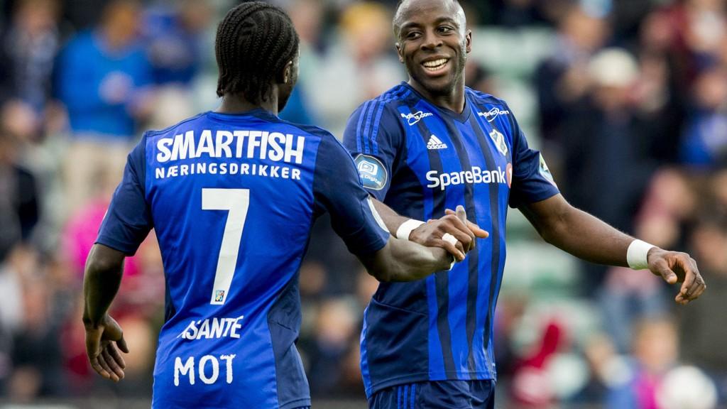Adama Diomande og Ernest Asante har begge levert strålende for Stabæk denne sesongen. Foto: Vegard Wivestad Grøtt / NTB scanpix