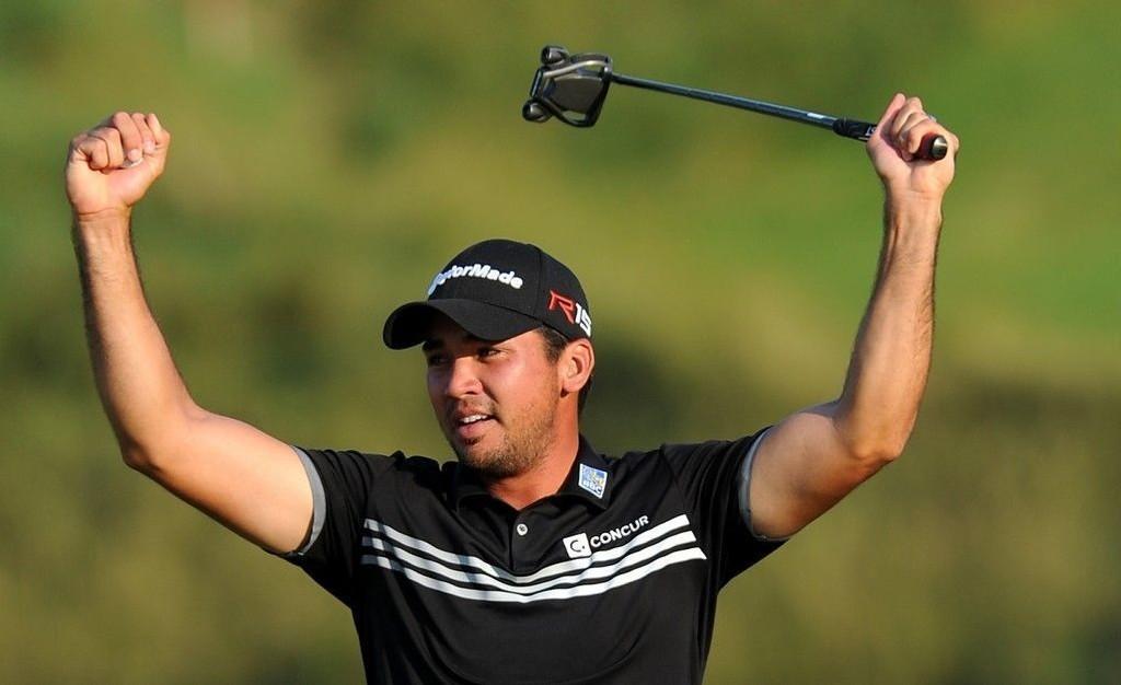 Jason Day jubler etter seieren i PGA-mesterskapet søndag.