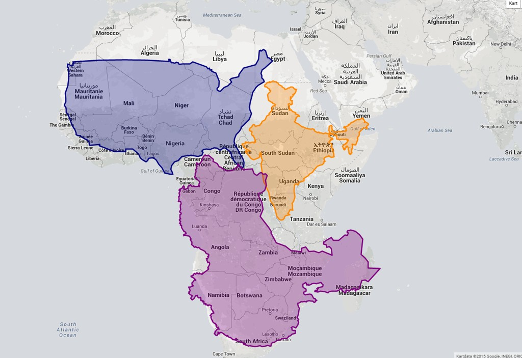 ekte kart verden