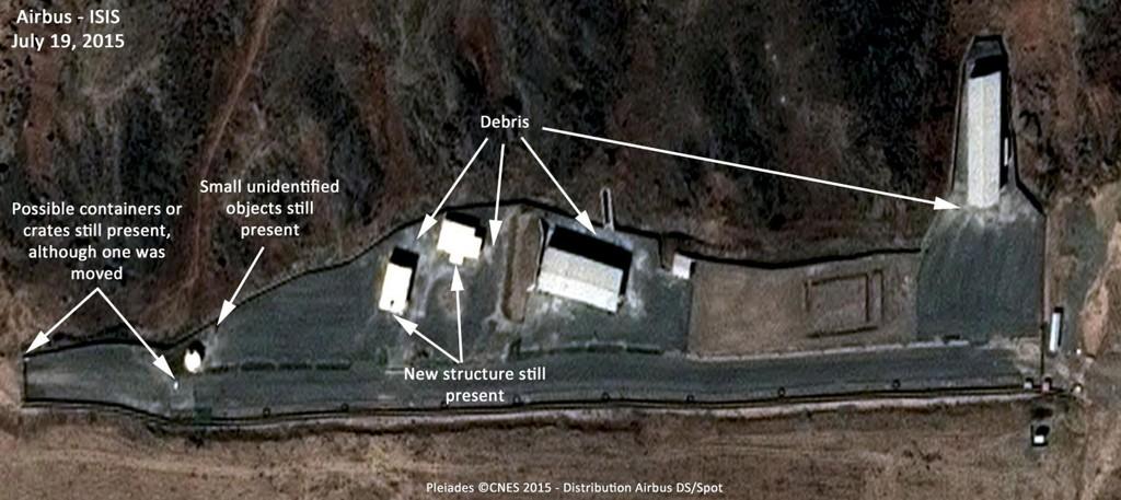Satellittbilde av det iranske militæranlegget Parchin. Det er blitt påstått at Iran bedriver med utvikling av kjernevåpen i Parchin-anlegget.