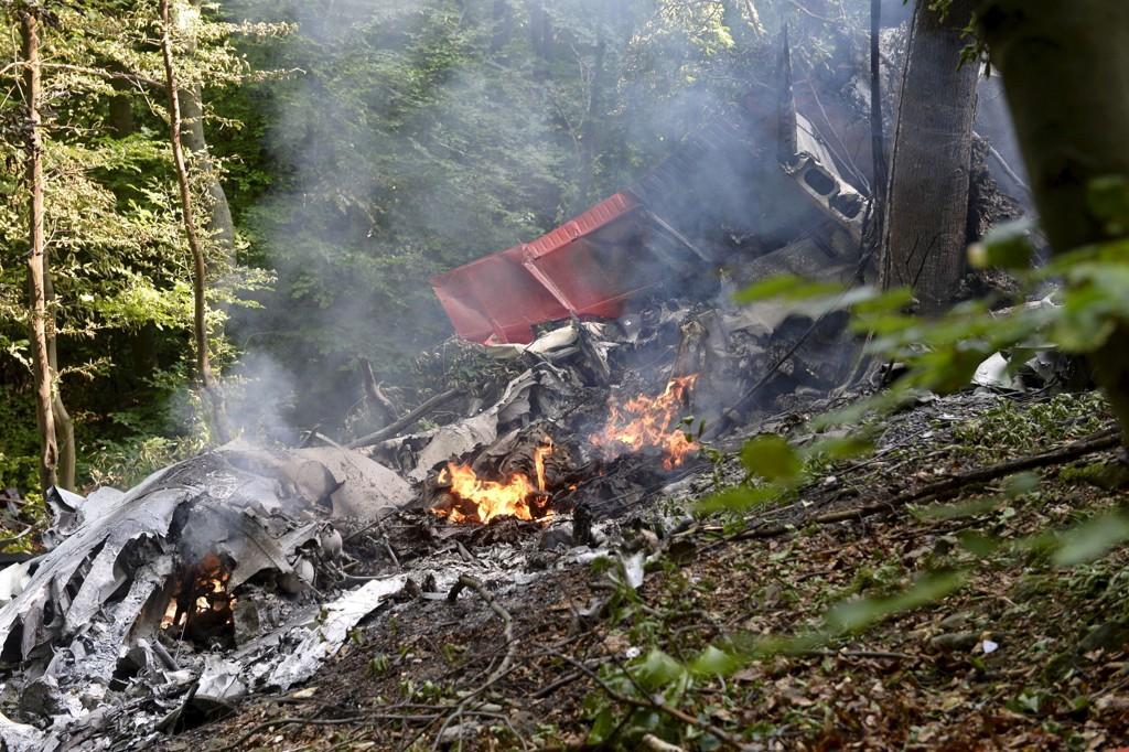 Vrakrester i skogen utenfor den slovakiske byen Ilava.