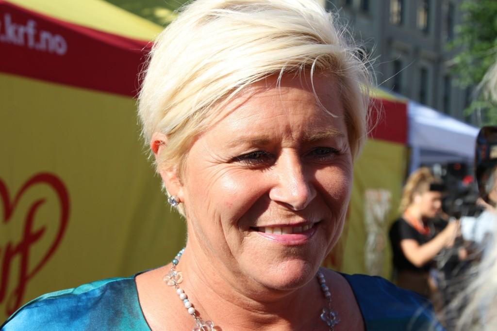 OFFENSIV: Vi møtte en offensiv Frp-leder Siv Jensen under Arendalsuka. - Klarer hun å løfte partiet til nye høyder?