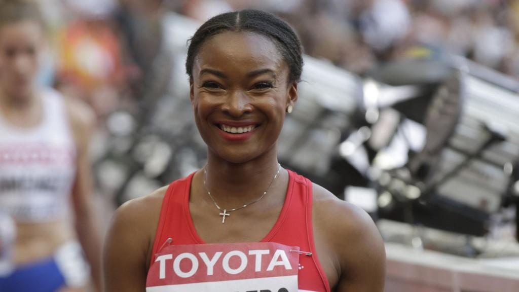 FORNØYD: Ezinne Okparaebo mener hun aldri har gjort noe bedre løp.