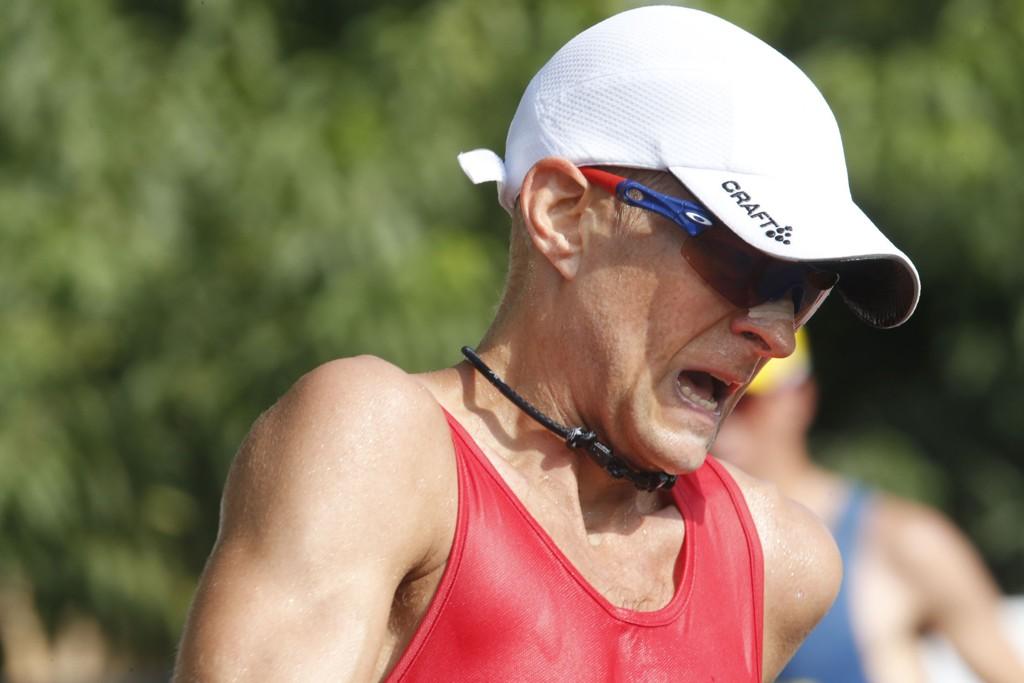 VONDT: Erik Tysse hadde det ikke godt under søndagens 20-kilometer kappgang i Beijing.
