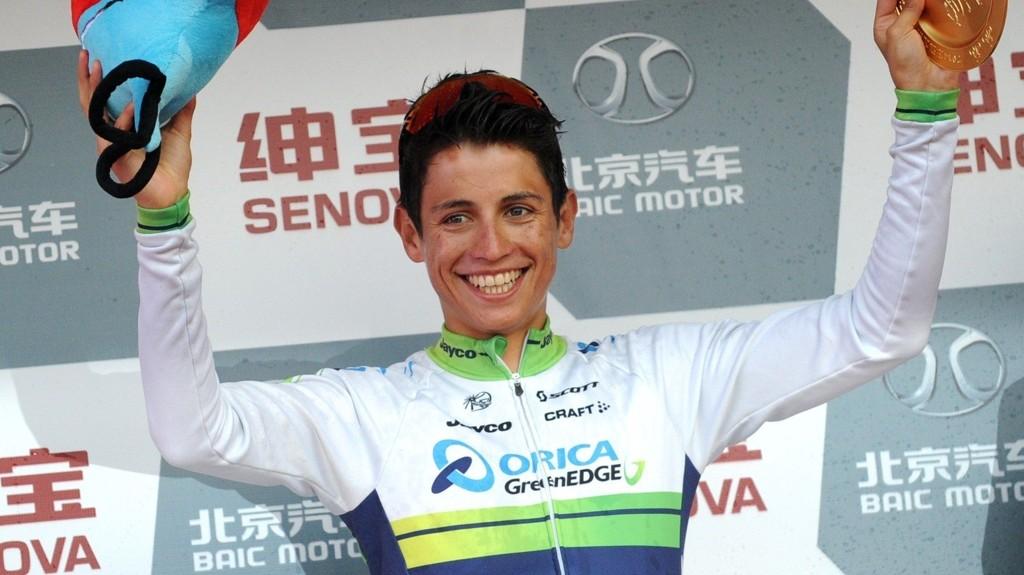 VANT: Orica Greenedge-rytter Johan Esteban Chaves syklet inn til etappeseier på den andre etappen i Vuelta a Espana søndag. Bildet er fra et tidligere ritt.
