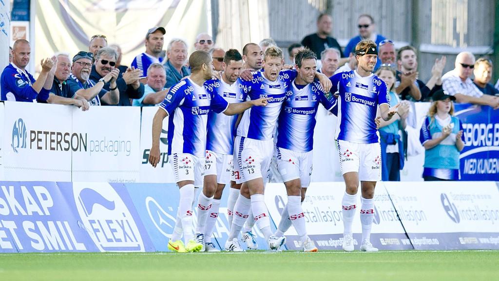 VANT: Sarpsborg 08 kunne juble for seier mot Aalesund.