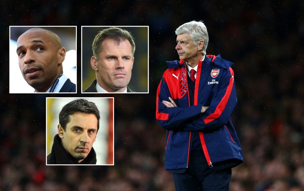 FÅR KRITIKK: Arsene Wenger får høre det av Sky Sports eksperter.