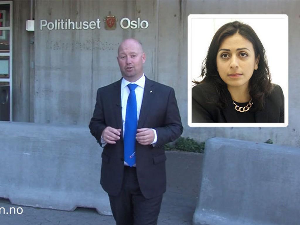 REAGERER: Arbeiderpartiets justispolitiske talskvinne, Hadia Tajik, kaller justisminister Anders Anundsens video et propaganda-prosjekt.