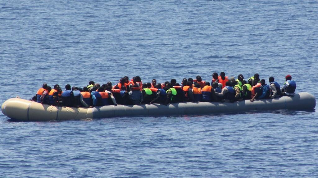 Skipet Lé Niamh reddet 98 migranter 19. juli 2015.