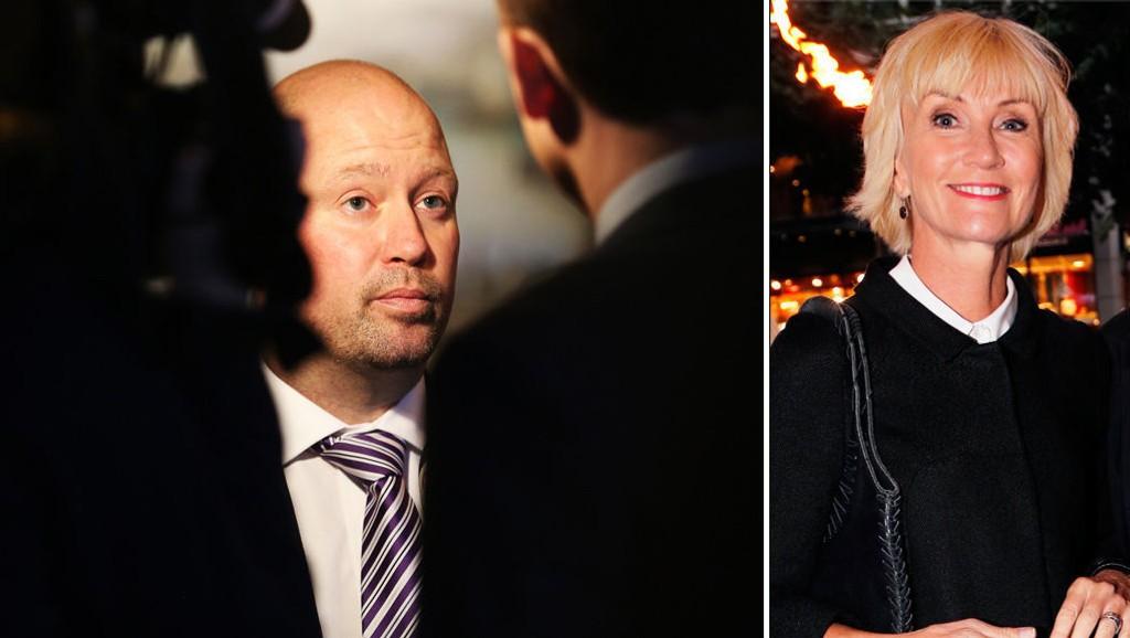 FÅR KRITIKK: Justisminister Anders Anundsen og hans departement får kritikk av NRK for å ha brukt et Dagsrevyen-klipp av nyhetsanker Nina Owing. Foto: Scanpix